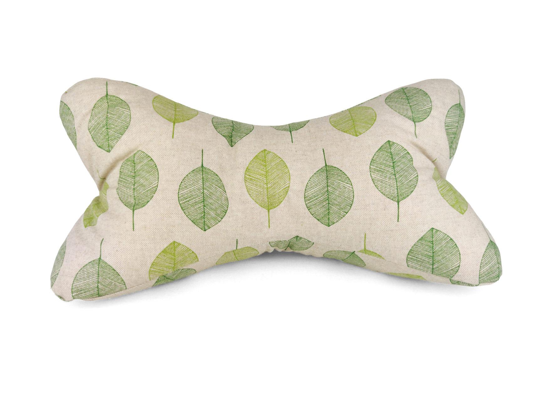 Leseknochen grüne Blätter Leinen Look