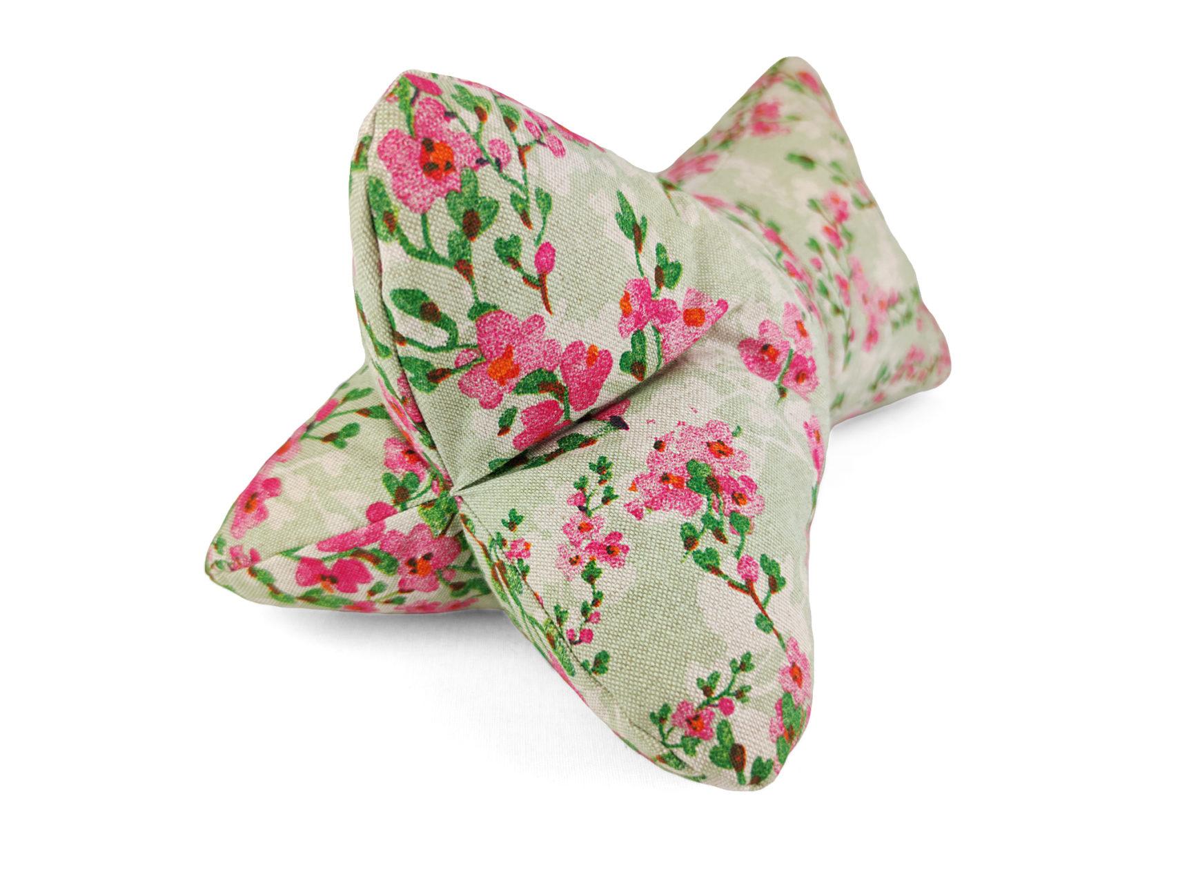 Leseknochen rosa Kirschblüten Leinen Look