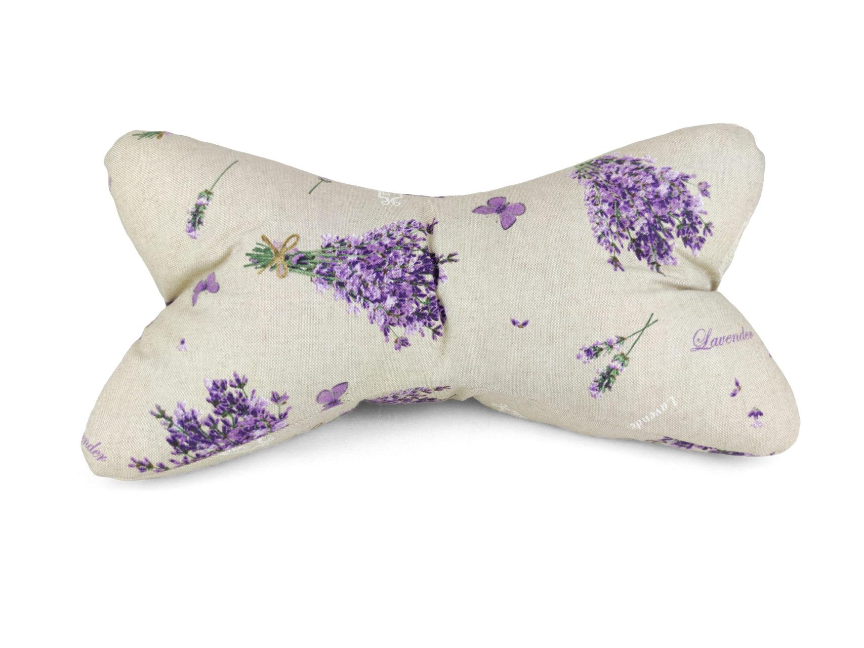 Leseknochen violette Lavendelsträuße Leinen Look