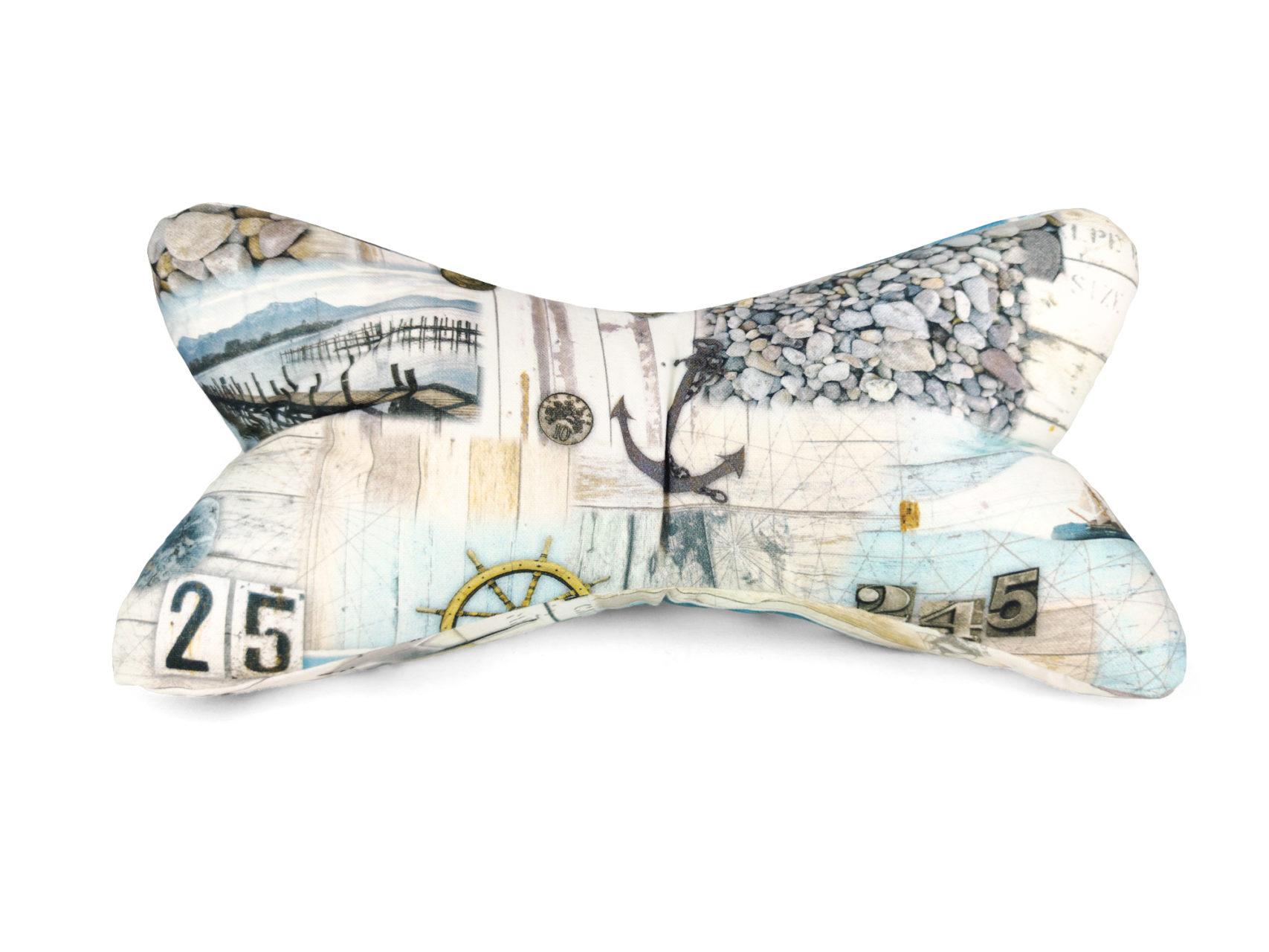 Leseknochen Leinen los maritime Fotomotive in weiß und blau