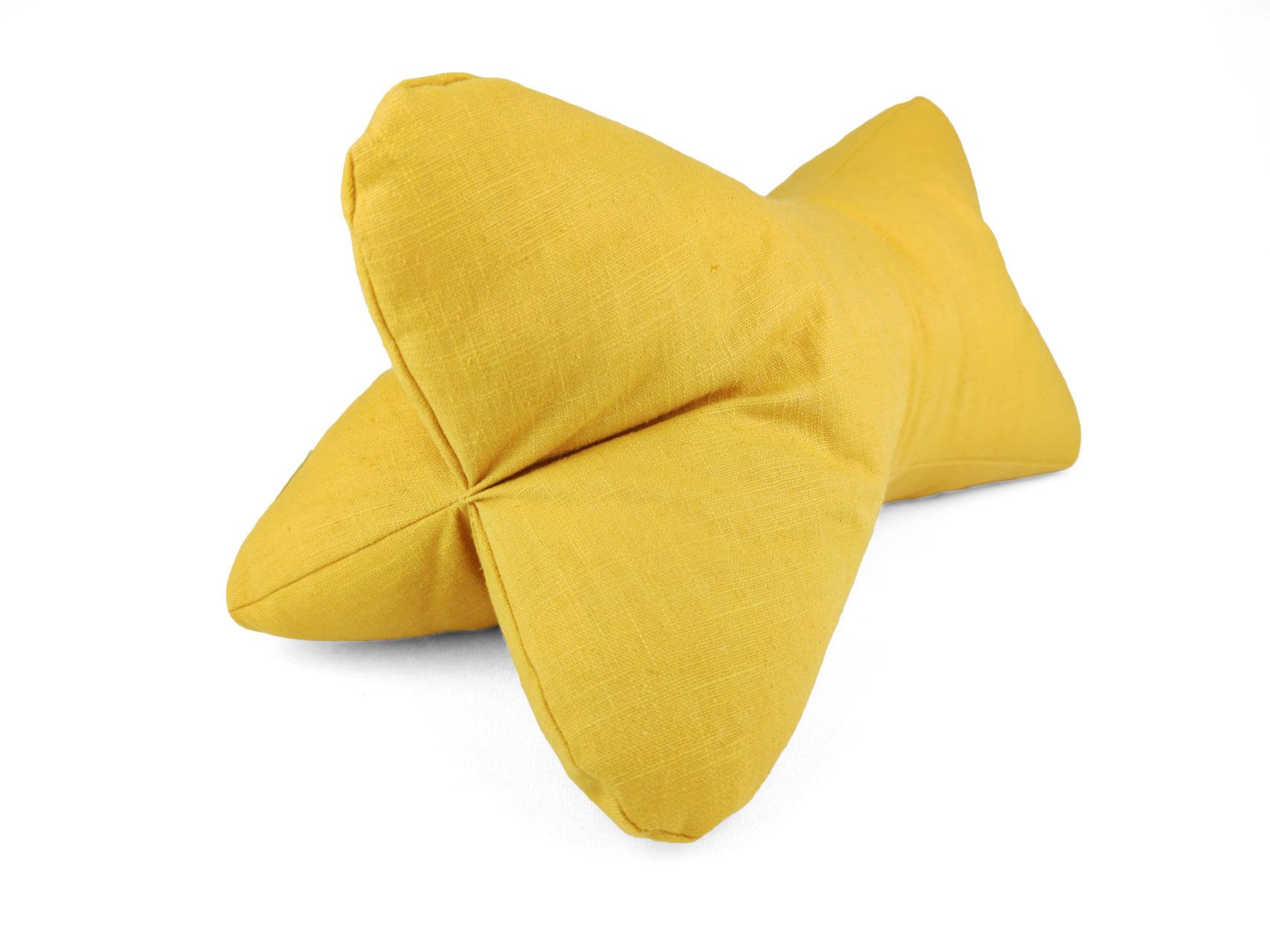 Leseknochen gelb Ramie Leinen