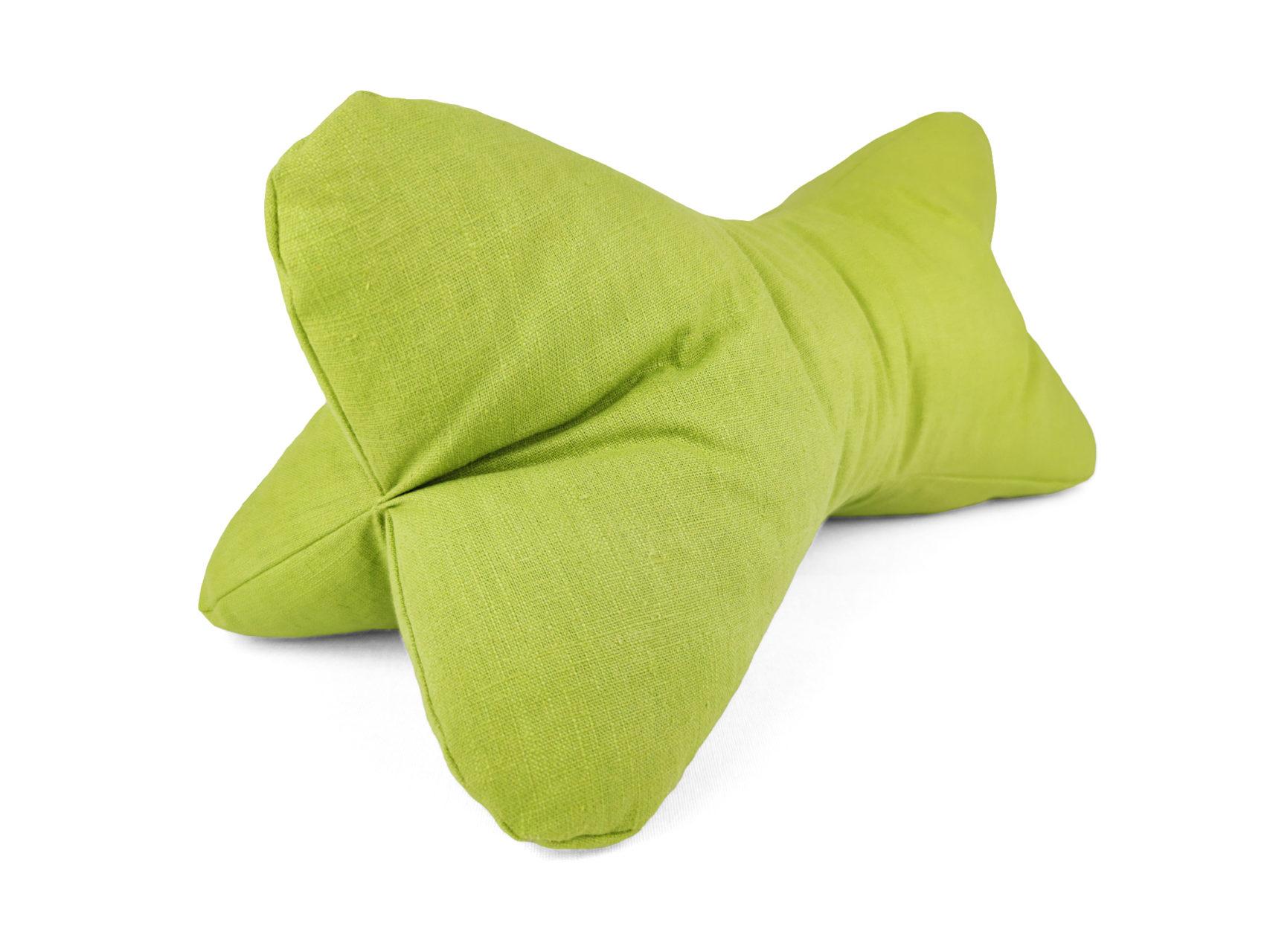 Leseknochen hellgrün Ramie Leinen