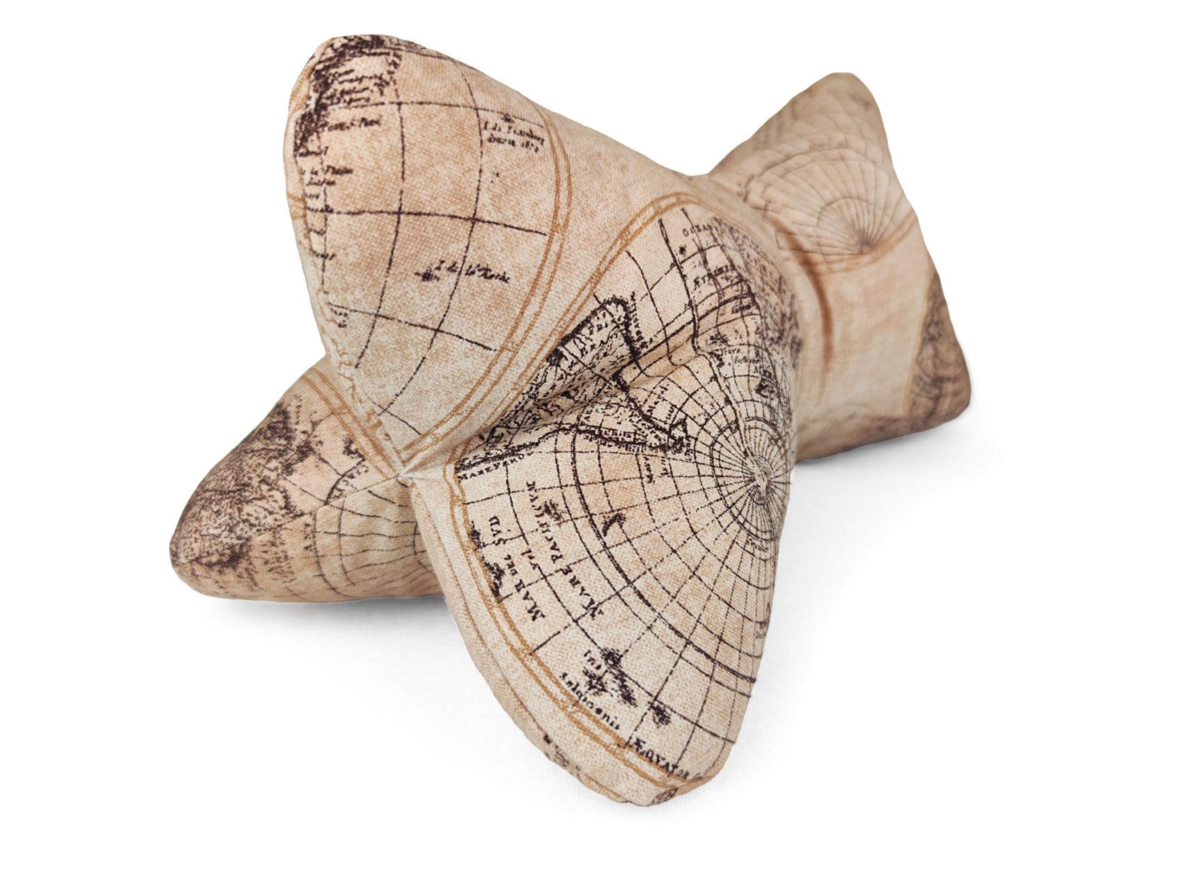 Leseknochen maritime hellbraun Seekarte