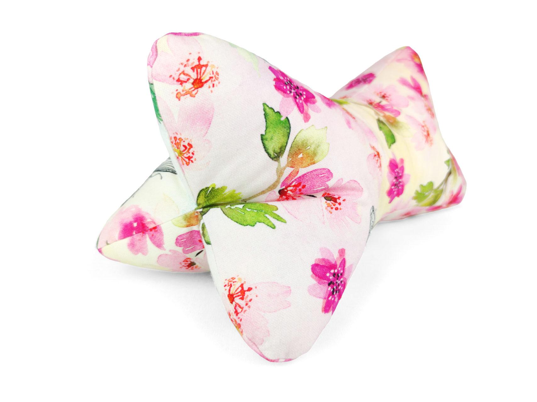 Leseknochen pinke Blumen Schmetterlinge pink flowers