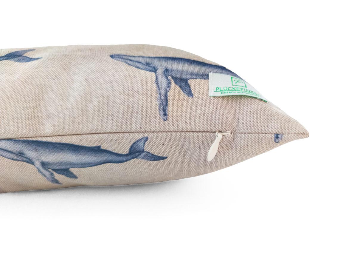 Kissenbezug 40x40cm – Wale