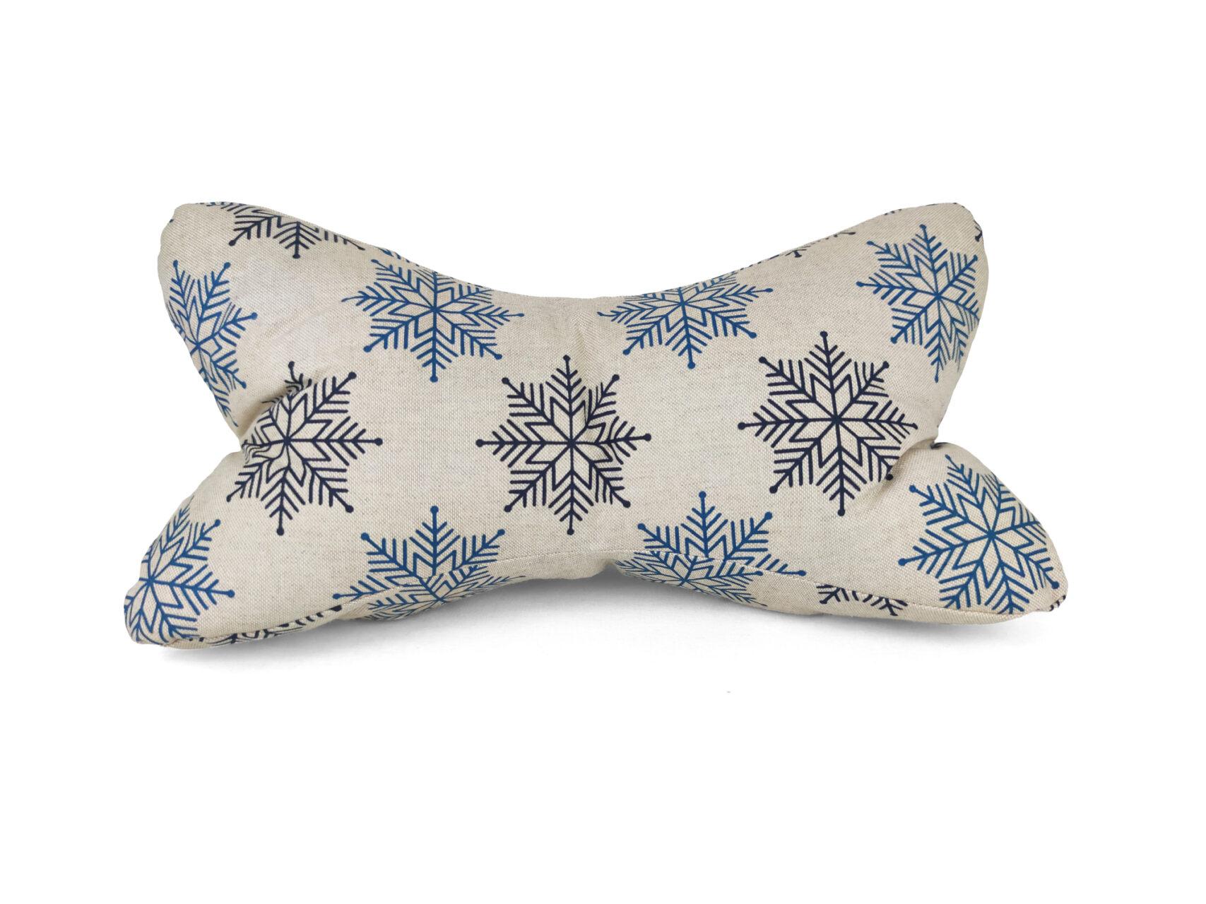 Leseknochen-Schneeflocken-Winter-blau
