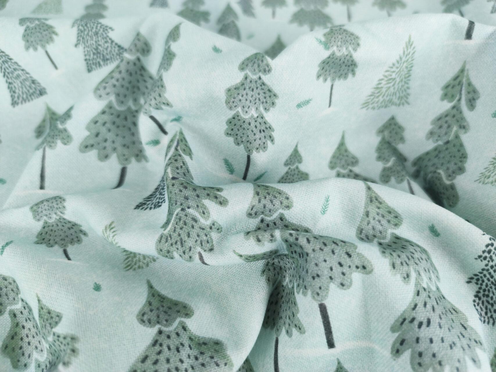 Stoffdetail-Winterwald-blau-grau